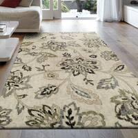Superior Designer Jacobean Area Rug (4' x 6') - 4' x 6'