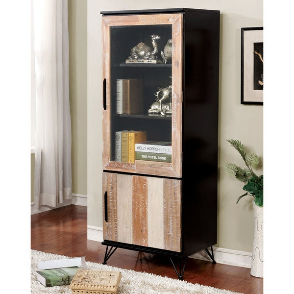 Amazing Furniture Of America Freddie Contemporary Sawblade Style 2 Door Pier Cabinet