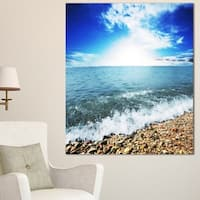 Crystal Clear Blue Sea Waves - Seashore Canvas Wall Artwork