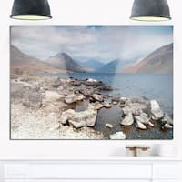 Rocky Wast Water in Lake District - Landscape Glossy Metal Wall Art