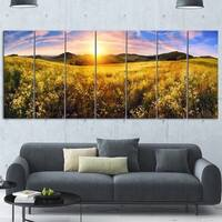 Designart 'Beautiful Meadow Panorama' Landscape Metal Wall Art