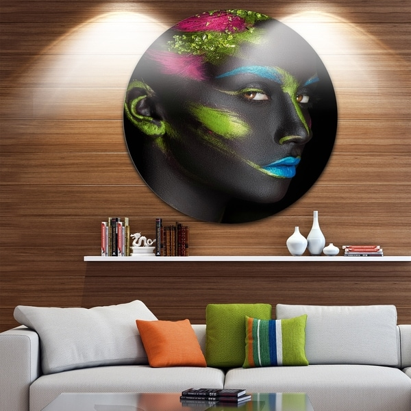 Shop Designart \'Dark-Skinned Girl with Make-up\' Portrait Digital Art ...