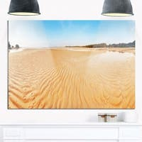 Exotic Tropical Beach Panorama - Modern Seascape Glossy Metal Wall Art