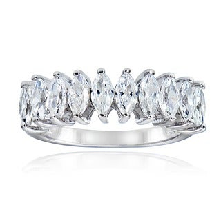 Icz Stonez Sterling Silver CZ Marquise Ring