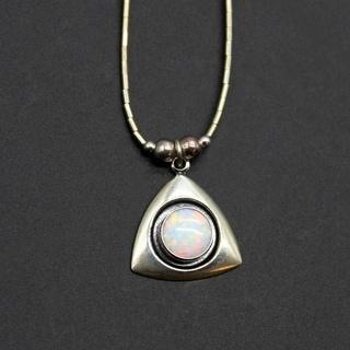Handmade Sparkling White Opal Pendant (India)