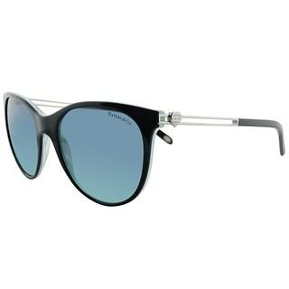 Tiffany & Co. Cat-Eye TF 4139 81939S Women Black Striped Blue Frame Blue Gradient Lens Sunglasses
