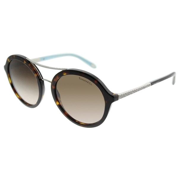 63e8920958a Tiffany  amp  Co. Round TF 4136B 80153B Women Dark Havana Frame Brown  Gradient Lens