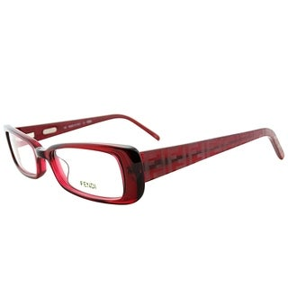 Fendi Rectangle FE 906 509 Women Berry Frame Eyeglasses