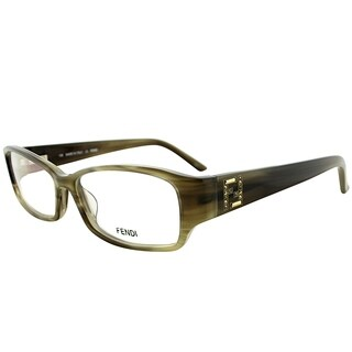Fendi Rectangle FE 966R 318 Women Matte Olive Frame Eyeglasses