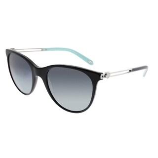 Tiffany & Co. Cat-Eye TF 4094B 80019S Women Black Frame Blue Gradient Lens Sunglasses