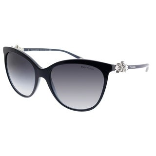 Tiffany & Co. Cat-Eye TF 4131HB 81913C Women Pearl Sapphire Frame Grey Gradient Lens Sunglasses