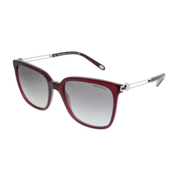 1c0aa8fbcf Tiffany  amp  Co. Square TF 4138 80033C Women Opal Dark Cherry Frame Grey  Gradient