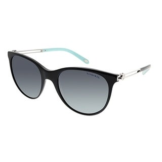 Tiffany & Co. Cat-Eye TF 4139 80014Y Women Black Frame Blue Mirrored Gradient Polarized Lens Sunglasses