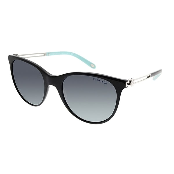 f80da212114 Tiffany  amp  Co. Cat-Eye TF 4139 80014Y Women Black Frame Blue Mirrored