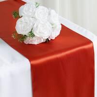 Satin Table Runner Wedding Party Banquet Burnt Orange 12 x 108