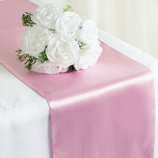 Satin Table Runner Wedding Party Banquet Pink 12 x 108