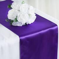 Satin Table Runner Wedding Party Banquet Purple 12 x 108