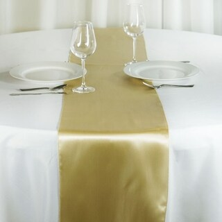 Satin Table Runner Wedding Party Banquet Champagne 12 x 108