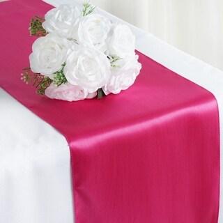 Satin Table Runner Wedding Party Banquet Fuchsia 12 X 108