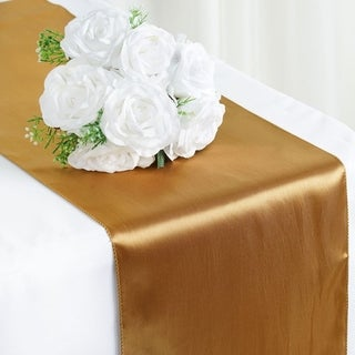 Satin Table Runner Wedding Party Banquet Gold 12 X 108