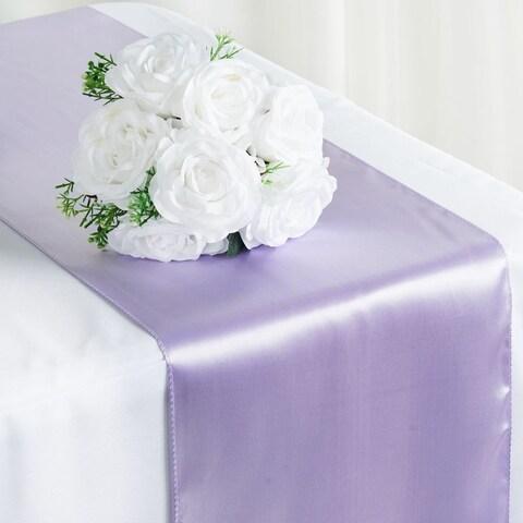 Satin Table Runner Wedding Party Banquet Lavendar 12 x 108