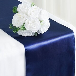 Satin Table Runner Wedding Party Banquet Navy 12 x 108