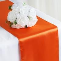 Satin Table Runner Wedding Party Banquet Orange 12 x 108