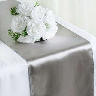 Satin Table Runner Wedding Party Banquet Silver 12 x 108