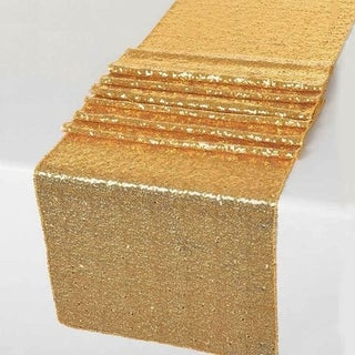 Glitz Sequin Table Runners Wedding Party Banquet Gold 12 x 108