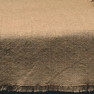 "Primitive 100% Soft Cotton BURLAP Table Runner 13"" x 36"""