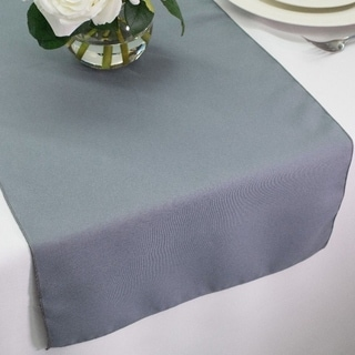 Polyester Table Runners 14 x 72 Gray