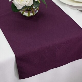 Polyester Table Runners 14 x 72 Plum