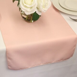 Polyester Table Runners 14 x 72 Blush Pink