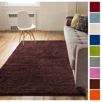 Well Woven Plush Solid Shag Area Rug