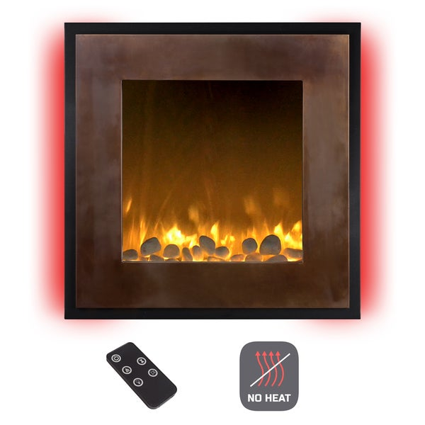 Shop Electric Led Fireplace Wall Mounted 13 Backlight