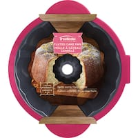 Structure Pro Fluted Cake Pan Gray/Fuchsia