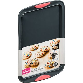 Silicone Half Cookie Sheet Gray/Coral