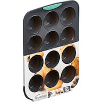 Silicone Muffin Pan Gray/Mint