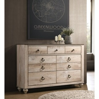 Imerland Contemporary White Wash Finish 7-drawer Dresser