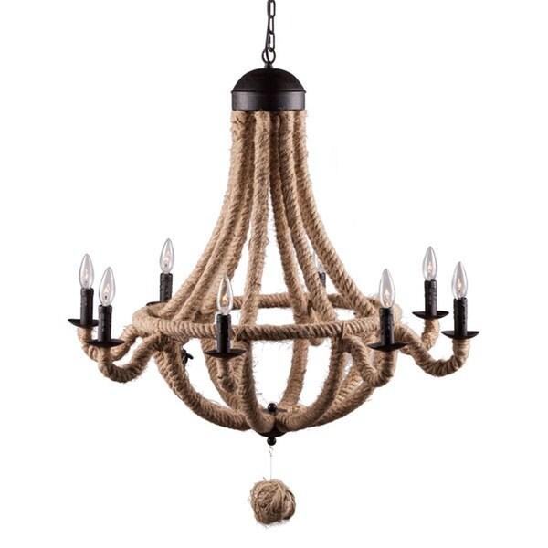 Pyper Marketing Jimmy Jute/Iron Ceiling Lamp