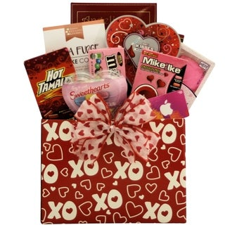 Hugs & Kisses with iTunes Gift Card: Valentine's Day Gift Basket For Tweens & Teens