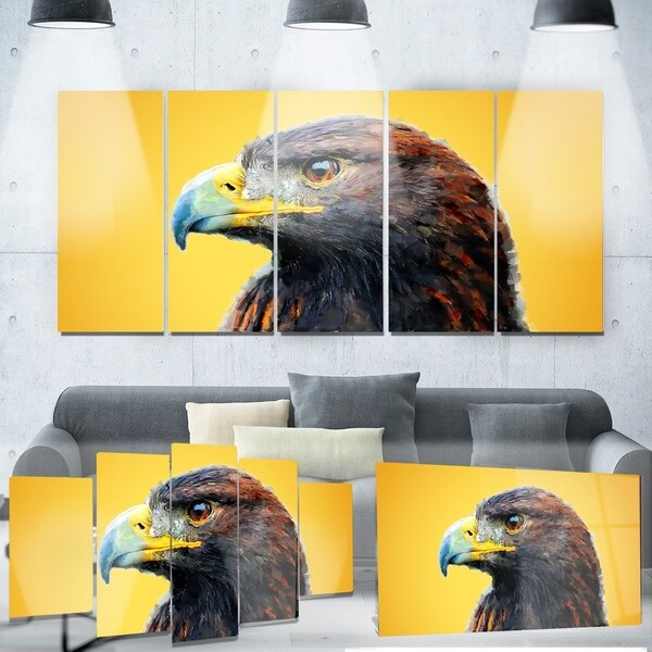 Designart \'Golden Eagle\' Animal Metal Wall Art - Free Shipping Today ...