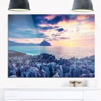 Spring Sunset Over Monte Cofano - Landscape Photo Glossy Metal Wall Art