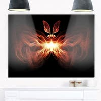 Fire in Middle Fractal Butterfly - Large Abstract Art Glossy Metal Wall Art