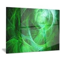 Designart 'Green Stormy Sky Texture' Abstract Digital Art Metal Wall Art
