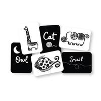 WEE GALLERY High Contrast Black and White Art Cards for Baby Original Collection