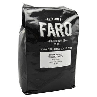 Faro Golden Bridge Espresso Limited Roast Whole Ethiopean Coffee Beans With Unbeatable Freshness, Full-Bodied Taste (4 bags)