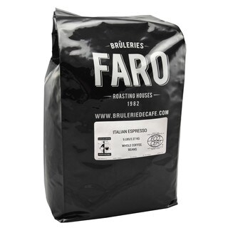 Faro Italian Espresso, Strong Whole Coffee Beans, Robusta and Arabica Beans - N/A - N/A