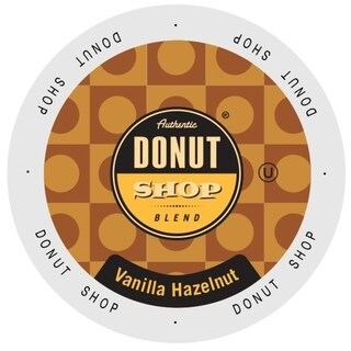 Authentic Donut Shop Vanilla Hazelnut, Single Serve Cups for Keurig Brewers 24 Count