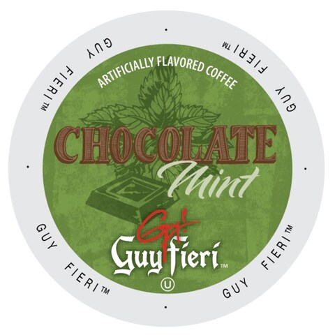 Guy Fieri Coffee Chocolate Mint, Single Serve Cups for Keurig K-Cup Brewers 24 Count